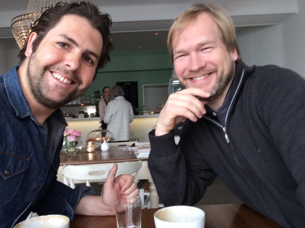 Fabio Ziemßen (Efood-Blog) und Peter Wiedeking (Abendtüte.de)