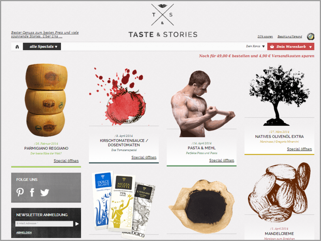 TASTE&STORIES Webshop